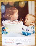 1965 Bell Telephone W/girl Giving Boy Lick Of Frosting