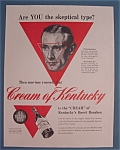 1942 Cream Of Kentucky W/ Man's Face By Norman Rockwell