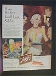 Vintage Ad: 1952 Schlitz Beer