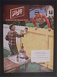 1951 Schlitz Beer With Man Painting Fence