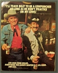 1982 Miller Lite Beer With Jim Shoulders & Billy Martin