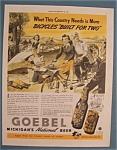 Vintage Ad: 1941 Goebel Michigan's Beer