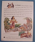1941 Schlitz Beer With Woman Serving Man A Beer