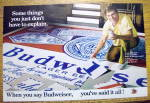 1972 Budweiser Beer With Man Building Puzzle