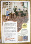 1923 Congoleum Art Rugs With Family Eating Dinner