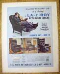 1970 La-z-boy Reclining Chair With Man & Little Girl