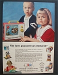 1966 Fisher-price Toys With 2 Children & Toys
