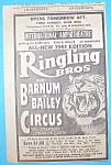 Vintage Ad: 1961 Ringling Bros & Barnum & Bailey