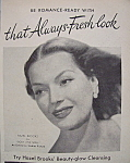 Vintage Ad: 1948 Woodbury Cold Cream W/ Hazel Brooks