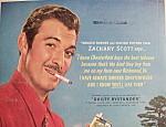 Vintage Ad:1950 Chesterfield Cigarette W/zachary Scott