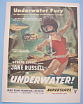Vintage Ad: 1955 Movie Ad For Underwater W/jane Russell