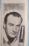 Vintage Ad: 1947 Stratford Pens With George Sanders