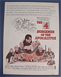 1961 Movie Ad For The 4 Horsemen Of The Apocalypse