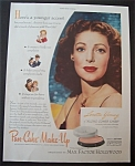 1945 Max Factor Pan-cake Make-up With Loretta Young
