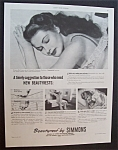 1946 Beautyrest By Simmons With Yvonne De Carlo