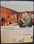 1958 Celotex Ceiling Tile With Hal March