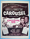 Vintage Ad: 1956 Carousel With Shirley Jones