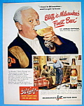 Vintage Ad: 1949 Blatz Beer With Charles Winninger