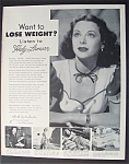 1953 Ayds Weight Loss With Hedy Lamarr