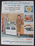 1959 Tappan Gas Range With Gloria & Jimmy Stewart