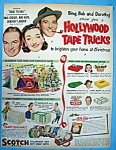 Vintage Ad: 1952 Scotch Tape With Bing, Bob & Dorothy