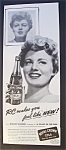 1951 Royal Crown Cola With Shelley Winters