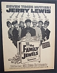 1965 Movie Ad For The Family Jewels