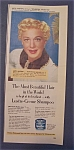 Vintage Ad: 1952 Lustre Creme Shampoo With Betty Hutton