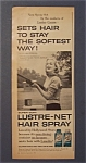 1957 Lustre - Net Hair Spray With Jan Sterling