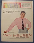 1955 Van Heusen Shirts With Tony Curtis