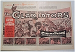1954 Movie Ad For Demetrius & The Gladiators