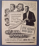 1957 Movie Ad For My Man Godfrey