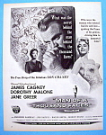 Vintage Ad: 1957 Man Of A Thousand Faces W/james Cagney