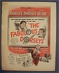 1947 Movie Ad For The Fabulous Dorseys