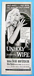 Vintage Ad: 1957 The Unholy Wife With Diana Dors
