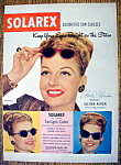 Vintage Ad: 1948 Solarex Sun Glasses With Ann Sheridan