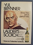 1975 Lauder's Scotch Whiskey With Yul Brynner