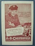 1950 Chesterfield Cigarettes With Broderick Crawford