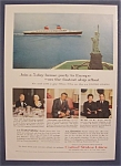 Vintage Ad: 1958 United States Lines With Cary Grant