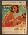 1964 Coppertone Suntan Lotion With Diane Baker