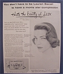 1954 Lux Toilet Soap With Lauren Bacall