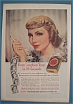 Vintage Ad: 1938 Lucky Strike Cigarettes W/ C. Colbert