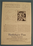 Vintage Ad: 1939 Movie Ad For Huckleberry Finn
