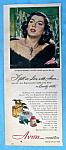 Vintage Ad: 1949 Avon Cosmetics W/ Rosalind Russell