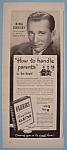 Vintage Ad: 1946 Fleers Gum W/ Bing Crosby
