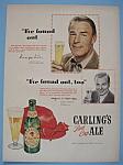 Vintage Ad: 1950 Carling's Red Cap Ale W/randolph Scott