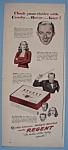Vintage Ad: 1946 Regent Cigarettes W/ Bing, June & Sam