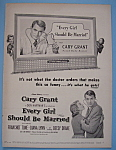 Vintage Ad:1948 Every Girl Should Be Married W/c. Grant