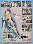 Vintage Ad: 1946 Blithe Spirit