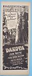 Vintage Ad: 1946 Dakota With John Wayne